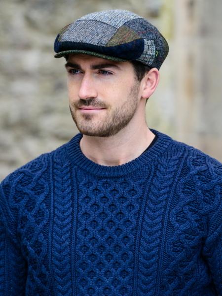 pull irlandais et casquette patch