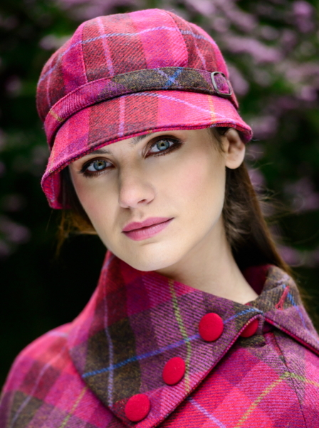 chapeau et poncho tweed