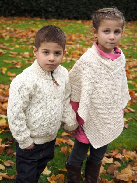 Poncho et pull irlandais pour enfant